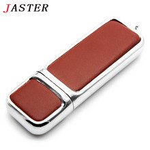 JASTER Leather USB Flash Drive pen drive 4GB 8GB 16GB 32GB commercial Pendrive fashion Memory stick u disk