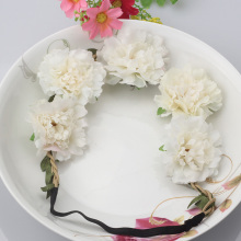 2017 New Trendy Boho Style Chrysanthemum Floral Headband Festival Party Wedding Flower Hairband Hairwear for Women &Girls(China)