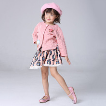 Princess Baby Girls Clothing Sets Long Sleeve T-Shirt Coat + Tutu Skirt 2Pcs Fall Autumn Winter Kids Girls Clothes Sets 2 3 4 5Y