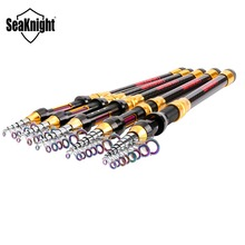 2017 SeaKnight 99% Carbon Fiber 1.8-3.6M Super Hard Telescopic Fishing Rod Carbon Spinning Pole Sea Fishing Stick Colorful Ring