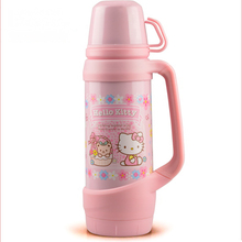 First Quality Stainless Steel Hello Kitty Doraemon Women 1200ML Thermos Cup Travel Hiking Thermo Mug