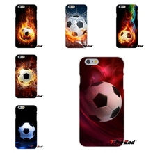 Fire Football Soccer Ball Silicone Soft Phone Case Cover  For Samsung Galaxy S3 S4 S5 MINI S6 S7 edge S8 Plus Note 2 3 4 5