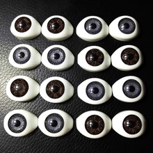 40Pcs(20pairs) Half Plastic Doll Eyes Mixed color BJD EYES, Oval Doll Dollfie Eyes Eyeballs Wholesale 22*16.5mm toys accessories