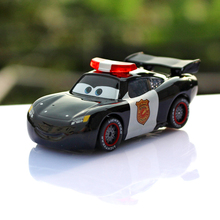 Pixar Cars 2 Police Version Lightning McQueen 1:55 Scale Diecast Metal Alloy Cute Toys For Children Gifts Anime Cartoon Toys(China)