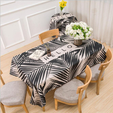 Black Jungle Tablecloth Cotten Linen Soft And Thick Coffee Table Study Dust Tea Tablecloth Home Decoration
