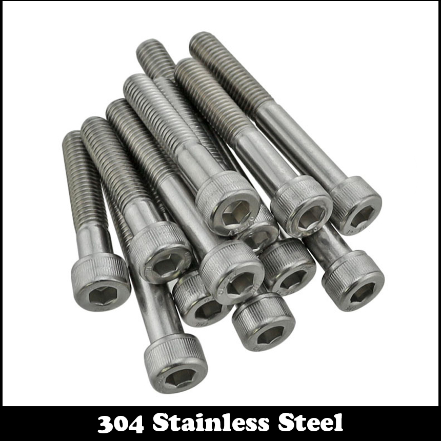 50 M6-1.0x70mm OR M6X70 mm Socket Allen Head Cap Screw Stainless Steel