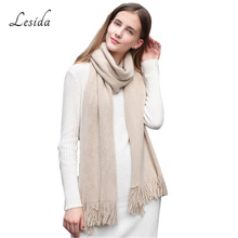 LESIDA Oversized Scarf Women Shawl Knit Woolen Scarf Infinity Bufandas Stoles Winter Warm Scarves Pashminas Capes 200*30CM 3411(China)