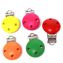 5pcs/lot Mixed Color Bag Clip Children Pacifier Holder Clip Infant Cute Round Nipple Clasps For Baby 45*28*17mm QB162388