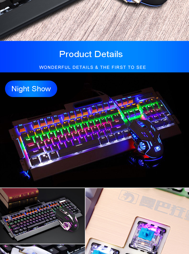 HTB1at0ASFXXXXXXXFXXq6xXFXXXb - Newest Mechanical Keyboard 104 keys Blue Black Switch LED Backlight USB Gaming Keyboard Mouse Combo for PC Games Teclado