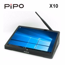 PIPO X10 Intel Cherry Z8350 Quad Core Windows10/Android 5.1 TV BOX 4GB/64GB 10.8 inch 1000mah Wifi BT Computer PC Box HDD Player(China)
