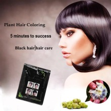 1pcs Hair Color shampoo for Hair Care & Styling Hair Dye 5 mins Into Black herb natural fast black hair repair shampoo 25ml