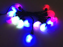 Merry Christmas lights RGB Colorful moon lamps AC 220V Waterproof LED String for Holiday Party Wedding Decoration