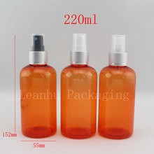 220ml empty plastic spray bottles 220cc makeup aluminum spray pump container ,perfume refillable bottle, water spray bottle(China)