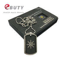 EBUTY Energy Pendant Quantum Negative Ion Pendants Charm Lava Stone Tourmaline Energy With Stainless Steel Chain and Nano Card(China)