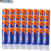 32Pcs pkcell 23A 12 v alkaline Battery 23AE MS21 A23 V23GA VR22 MN21 12V Non Rechargeable Batteries for Doorbell, Alarm(China)