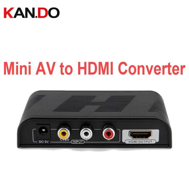 363MINI signal AV to HDMI Converter 1080P AV to HDMI Video Converte HDMI Converter CVBS+Audio(L/R) to HDMI AV converter adapter<br>