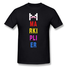 2017 men's Youtube Markiplier Logo fashion funny custom Print Slim Fit T Shirt Top quality cotton Tops Tees