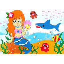 18.5cm*26cm DIY Handmade 3D Eva Foam Puzzle Sticker Self-adhesive Eva Crafts Toys Learning & Education Toys(China)