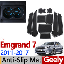 for Geely Emgrand 7 EC7 2011-2016 Anti-Slip Rubber Cup Cushion Door Mat 9pcs 2012 2013 2014 2016 Accessories Car Styling Sticker