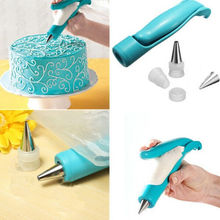 FoodyMine Nozzles Set Tool Dessert Decorators Cake Decorating Icing Piping Cream Syringe Tips Muffin Cake Pastry Pen Bag(China)