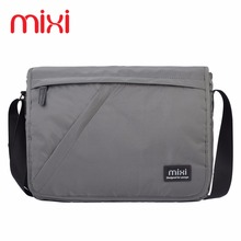 Mixi 2017 Fashion Casual Crossbody Handbag Vintage Messenger Bags Shoulder Bag Men Travel Bags 12'' 14'' School Bags