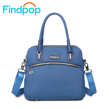 Findpop New Canvas Handbag Waterproof Ladies Crossbody Bag Business Casual Shoulder Bag Large Capacity Totes Bags For Women 2017(China)