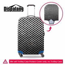 Dispalang new trendy 3D metal polka dot go trip suitcase cover thick luggage protectors waterproof travel trolley accessories(China)