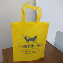wholesale 500pcs/lot 30x35Hx8cm custom promotion bags/ TNT reusable non woven bags/ eco-friendly shopping bags(China)