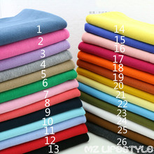 Buulqo  20cm*80-110cm stretchy Cotton Knitted Fabric by lot DIY cotton spandex clothing making rib cuff fabric