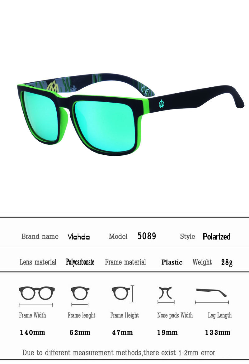 d3d36b4cb14 VIAHDA 2018 new and coolest The Polarized Sunglasses GlasseS Models  Colorful Sunglasses Brand Designer Sun Glasses With box