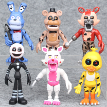 6Pcs/ lot 10cm Five Nights At Freddy's PVC Action Figure Toy Fnaf Bonnie Foxy Chica Freddy Doll Toys Fox Figure For Kids As Gift