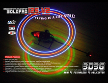 Nine Eagles SOLO PRO 125 V2 LED Version 6CH Flybarless Micro Helicopter with General Link BNF(China)