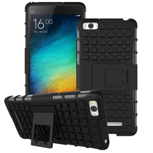 Etui Cases For Xiaomi Mi 4C & Mi 4i Silicone Cover Motile Telephone Accessories Dual Layer Rugged Armor Case Shock Proof Capa