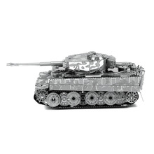 Tiger I Tank Jigsaw Puzzle Stainless Steel DIY  Assembly German Tank Model Creative Gift 3D Metal Puzzle For Boy/Adult