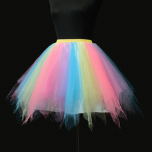 Buy 2018 Tulle Skirts Womens High Elastic Stretchy Tulle Teen Layers Summer Womens Tutu Skirt Pleated Muti Color Mini Skirts for $11.14 in AliExpress store