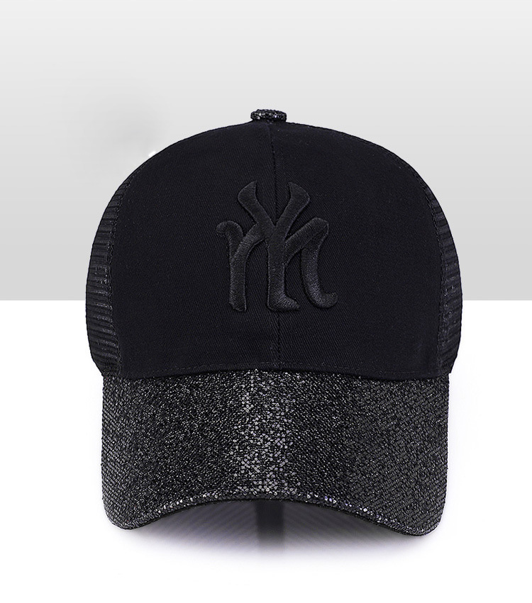 [Rancyword] 17 New Branded Baseball Caps Canada Women's Cap With Mesh Bone Hip Hop Lady Embroidery Hats Sequins RC1134 9