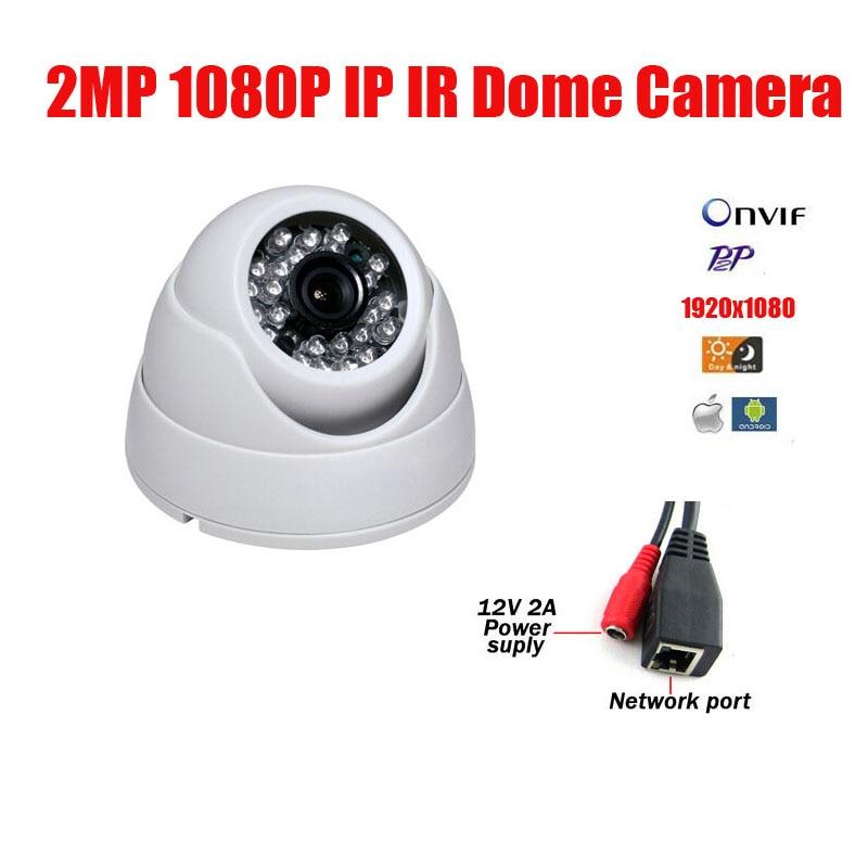 Free Shipping 2MP IP Dome camera 24pcs F5 LED 1080P CMOS HD IP IR Dome Camera Infrared Night Vision CCTV IP Camera IP CAM<br>