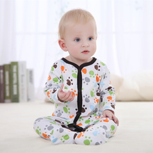 Mother Nest Brand Autumn Winter Long Sleeve Cotton Baby Romper Jumpsuits, Printed Baby Underwear Toddle Clothing Carter 83132(China)