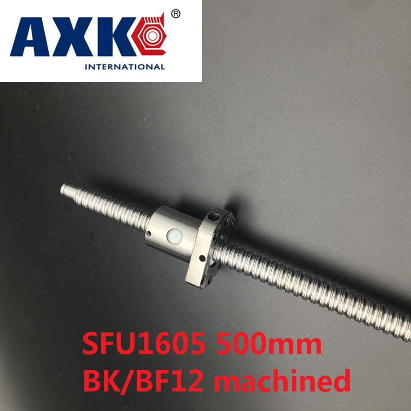 Axk Free Shipping Sfu1605 500mm Rm1605 500mm Rolled Ball Screw 1pc+1pc Ball Nut For Sfu1605<br>
