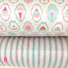 160cm*50cm Ice cream cartoon cotton fabric baby cloth kids bedding bed linens curtains pillow patchwork fabric