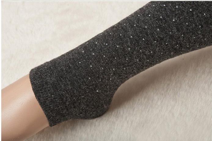 Women's Cotton Wool Leggings, Thicker Knitted, Sparkling Dot Design Autumn Legging 9