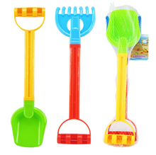 2pcs/set Sand Beach Shovel Classic Plastic Toys Baby Dredging Tools Children Beach Outdoor Fun Toy Birthday Party Best Gift