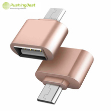 Pushingbest Mini Micro USB 2.0 OTG Cable Adapter For Samsung Galaxy S3 Sony LG Tablet PC MP3 Hub Converter usb otg cable charger