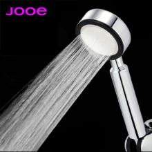 JOOE High Pressure Water Saving Shower Head ABS Plastic chrome Square or round HandHeld bath Shower Head Bathroom Accessories