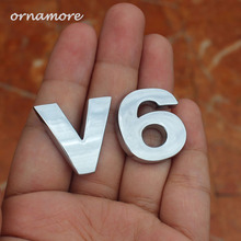 Buy 2pcs Fusion Silver V6 Rear Boot Trunk Emblem Sticker Auto Car Badge Sticker for $6.65 in AliExpress store