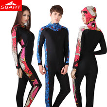 SBART Brand Scuba Diving Suit For Women Men 2015 New Floral Print Hooded Full Surfing Wetsuit Diving Clothes Wetsuite L
