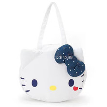 New Fashion Hello Kitty Girls Big Canvas Shoulder Bags Kids Shopping Bag For Children(China)