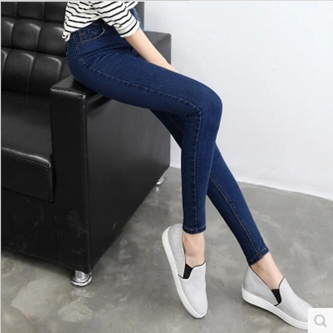 2017 fall fashion fat mm thin Slim waist was thin wild rock joints irregular big yards high elastic casual jeansОдежда и ак�е��уары<br><br><br>Aliexpress