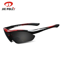 Buy JiePolly Professional Cycling Glasses Bike Goggles Outdoor Sports Bicycle Sunglasses Eyewear Buy One Get One Myopia Frame for $3.99 in AliExpress store