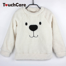 Newborn Cute Cartoon Animal Bear Baby Sweaters Infant Warm Fleece Kids Pullover Long Sleeve Winter Thick T-shirts Toddler Blouse(China)